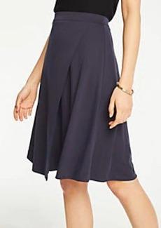 Ann Taylor Petite Matte Jersey Wrap Skirt