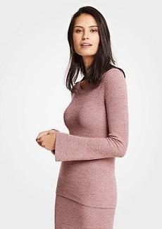 Ann Taylor Petite Melange Flare Sleeve Sweater