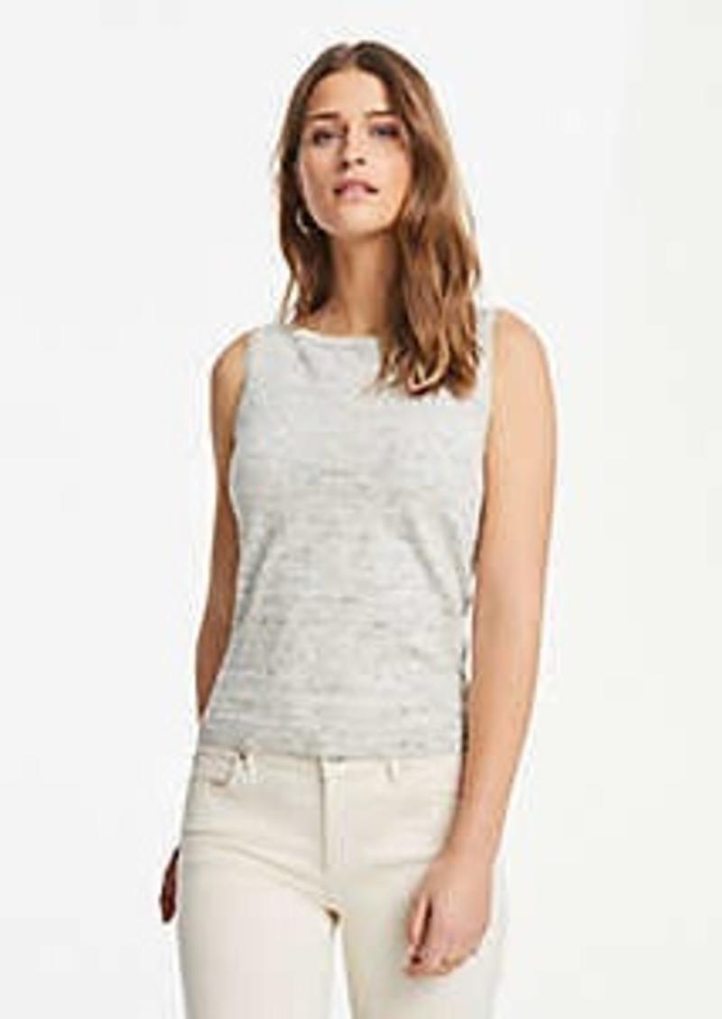 Ann Taylor Petite Melange Linen Blend Sweater Shell