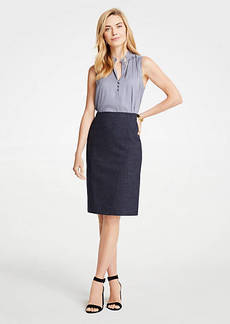 Ann Taylor Petite Mini Check Pencil Skirt
