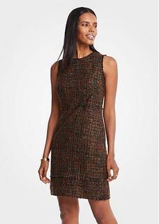 Ann Taylor Petite Mixed Fringe Tweed Dress