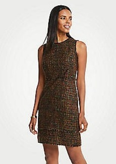 Ann Taylor Petite Mixed Fringe Tweed Dress