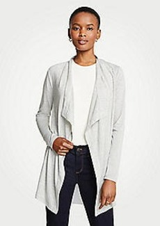Ann Taylor Petite Mixed Media Open Cardigan