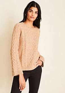 Ann Taylor Petite Mixed Stitch Cable Sweater