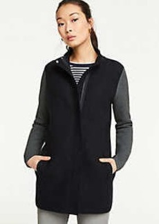 Ann Taylor Petite Mixed Stitch Coatigan