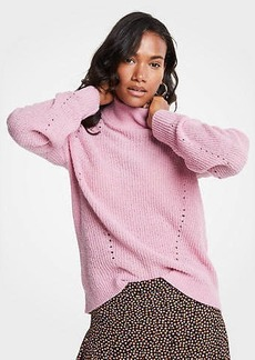 Ann Taylor Petite Mock Neck Boucle Sweater