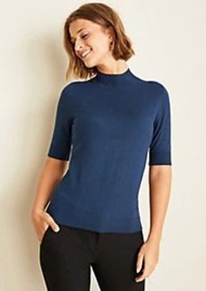 Ann Taylor Petite Mock Neck Sweater
