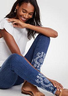 Ann Taylor Petite Modern All Day Skinny Eyelet Jeans
