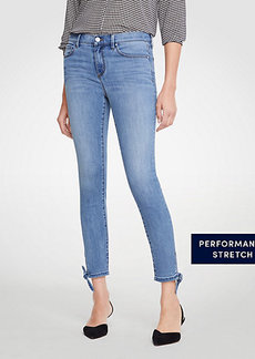 Ann Taylor Petite Modern Ankle Tie All Day Skinny Crop Jeans