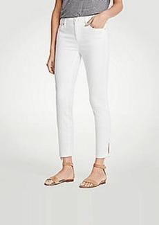 Ann Taylor Petite Modern Ankle Tie Skinny Crop Jeans