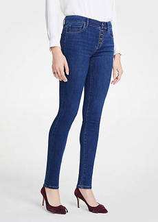 Ann Taylor Petite Modern Button Fly All Day Skinny Jeans