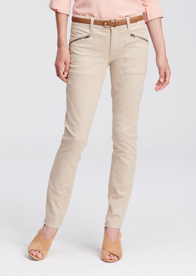Ann Taylor Petite Modern Cargo Skinny Jeans