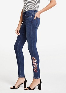 Ann Taylor Petite Modern Embroidered Floral All Day Skinny Jeans