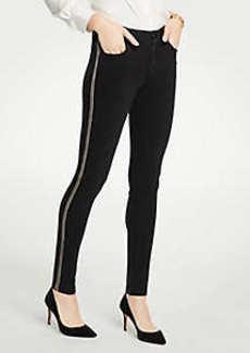 Ann Taylor Petite Modern Shimmer Side Stripe Skinny Jeans