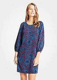 Ann Taylor Petite Mystical Garden Lantern Sleeve Shift Dress