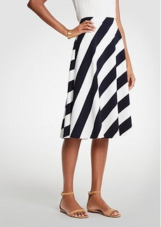 Ann Taylor Petite Nautical Stripe Full Skirt