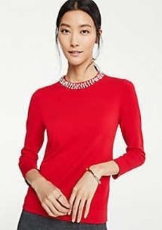 Ann Taylor Petite Necklace Sweater