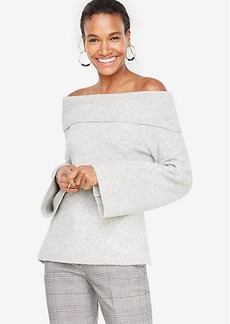 Ann Taylor Petite Off The Shoulder Bell Sleeve Sweater