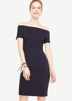 Ann Taylor Petite Off The Shoulder Sheath Dress