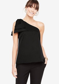 Petite One Shoulder Bow Top