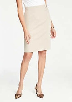 Ann Taylor Petite Pencil Skirt in Cotton Sateen
