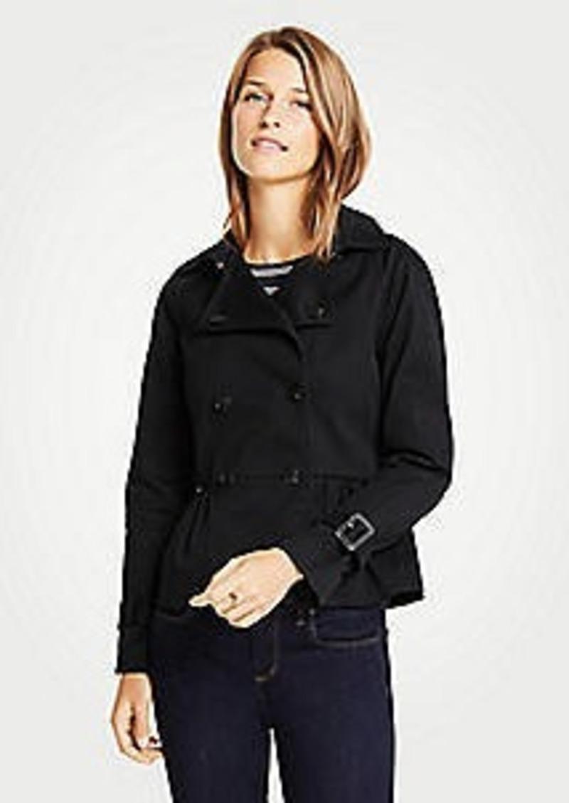 Ann Taylor Petite Peplum Trench Jacket