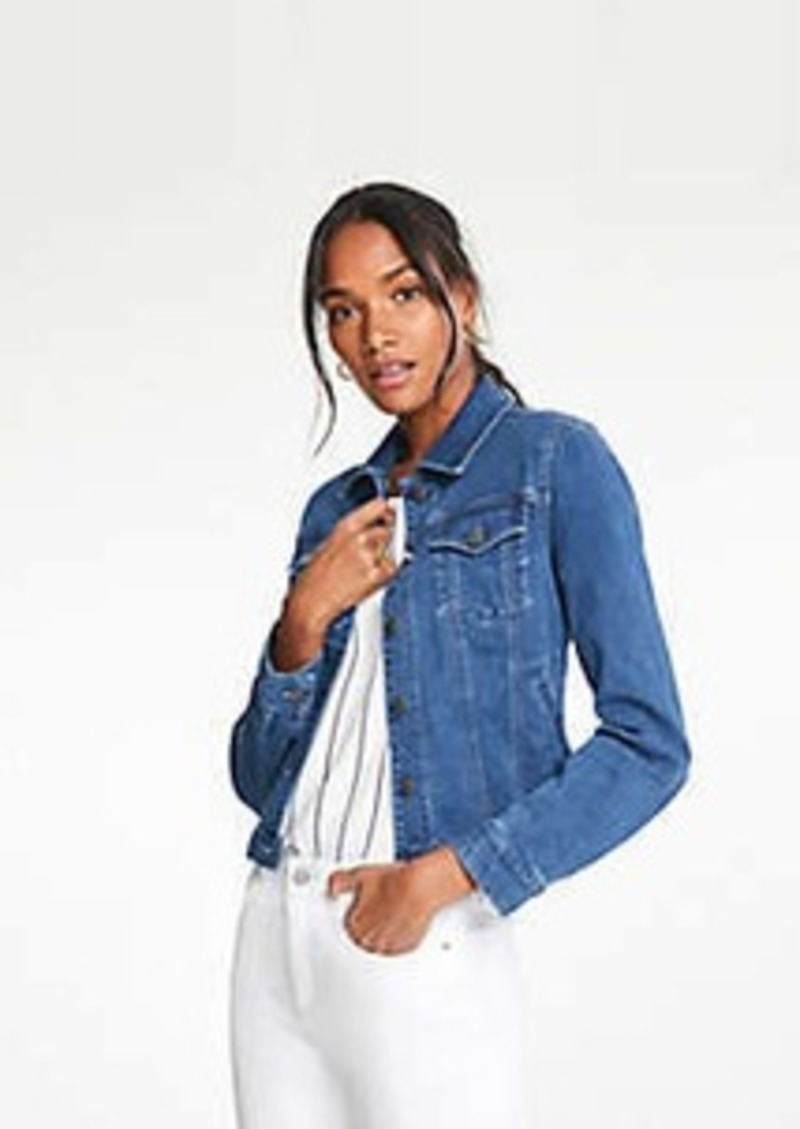 Ann Taylor Petite Performance Stretch Denim Jacket