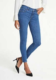 Ann Taylor Petite Performance Stretch Skinny Jeans In Classic Blue Wash