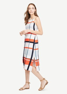 Petite Picnic Striped Linen Blend Midi Dress