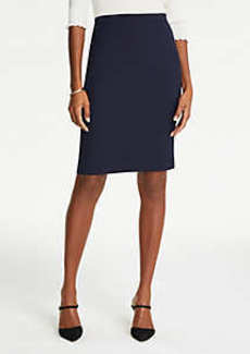 Ann Taylor Petite Pindot Pencil Skirt