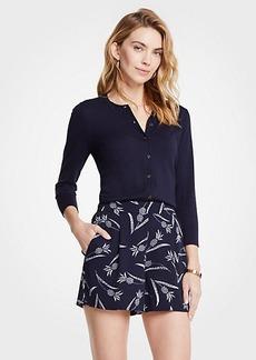 Ann Taylor Petite Pineapple Drapey Shorts