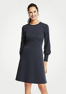 Ann Taylor Petite Pinstripe Cuffed Dress