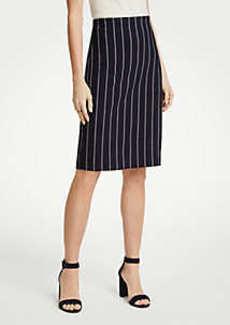 Ann Taylor Petite Pinstripe Ponte Knit Pencil Skirt