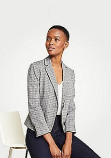 Ann Taylor Petite Piped Glen Plaid Newbury Blazer
