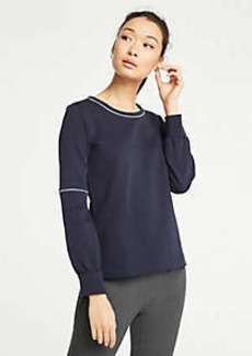 Ann Taylor Petite Piped Lantern Sleeve Sweatshirt