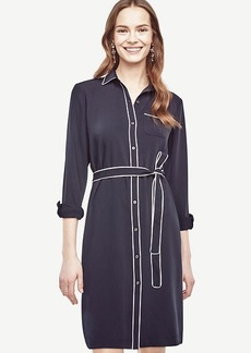Petite Piped Shirtdress