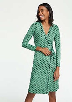 Ann Taylor Petite Piped Tulip Wrap Dress