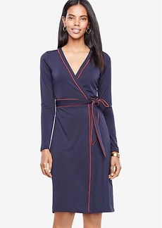 Ann Taylor Petite Piped Wrap Dress