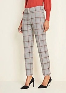 Ann Taylor Petite Plaid Belted Ankle Pants