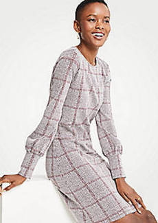 Ann Taylor Petite Plaid Cuffed Dress