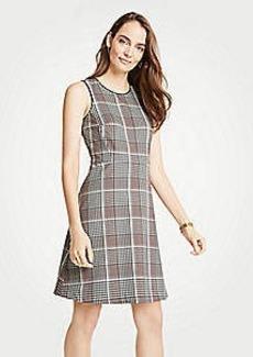 Ann Taylor Petite Plaid Flare Dress