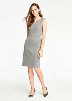 Ann Taylor Petite Plaid Sheath Dress