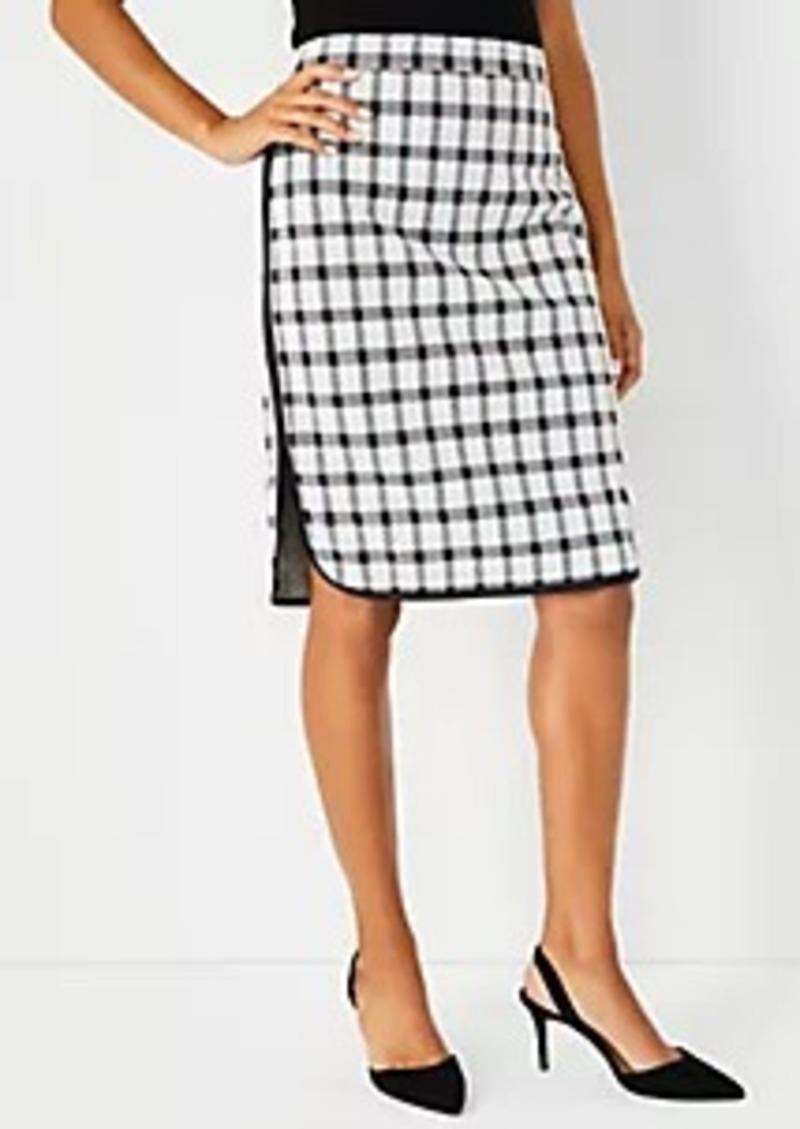 Ann Taylor Petite Plaid Pencil Skirt
