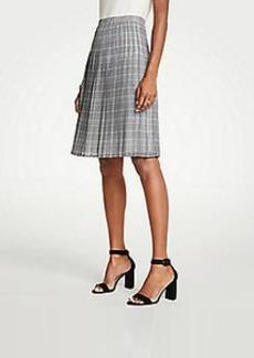 Ann Taylor Petite Plaid Pleated Skirt