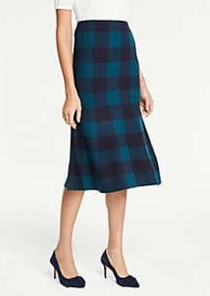 Ann Taylor Petite Plaid Trumpet Sweater Skirt