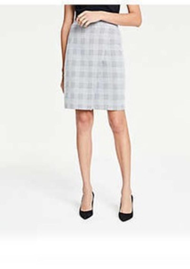 Ann Taylor Petite Plaid Wrap Knit Pencil Skirt