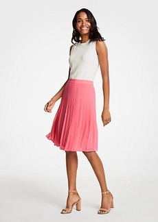 Ann Taylor Petite Pleated Chiffon Skirt