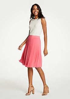 Ann Taylor Petite Pleated Chiffon Skirt