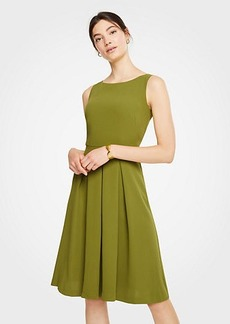 Ann Taylor Petite Pleated Flare Dress