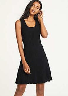 Ann Taylor Petite Pleated Flare Sweater Dress
